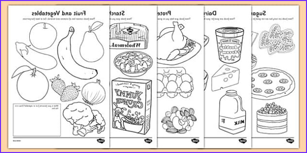Health Coloring Page New Collection Healthy Eating Colouring Sheets Teacher Made