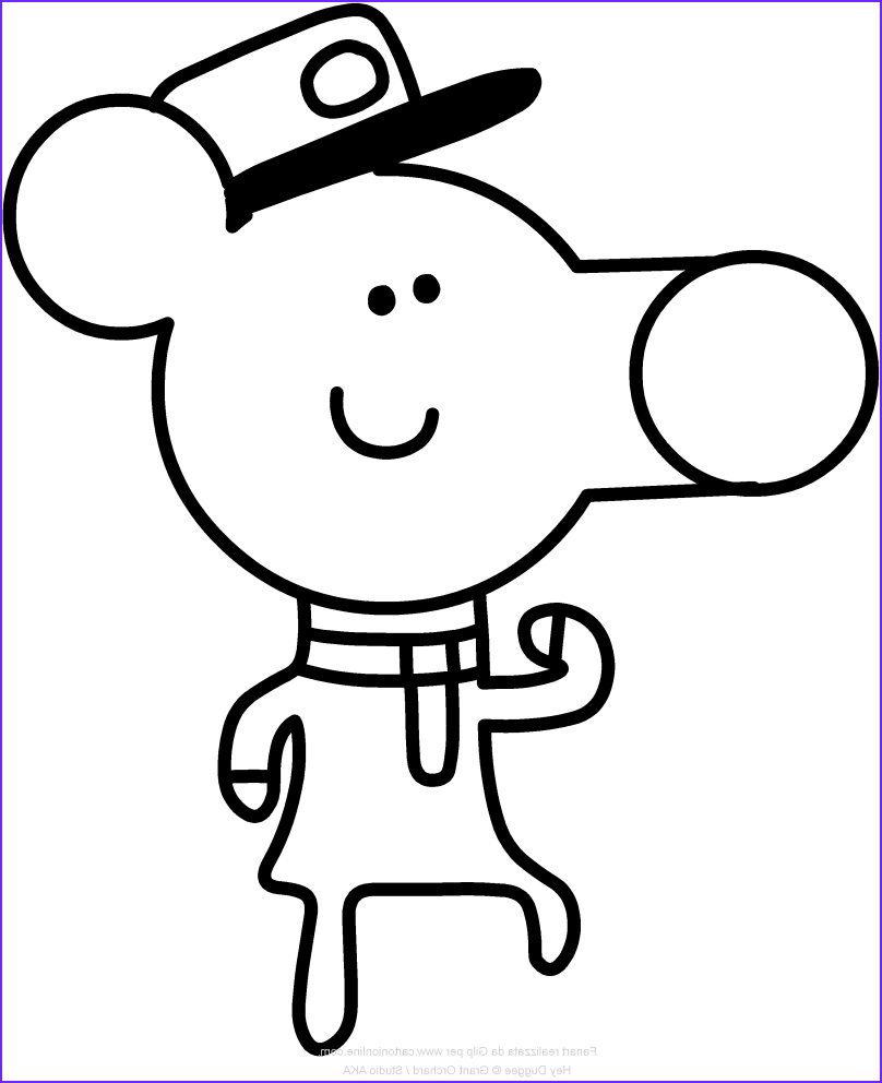 Hey Duggee Coloring Page Beautiful Collection Hey Duggee Coloring Pages at Getdrawings