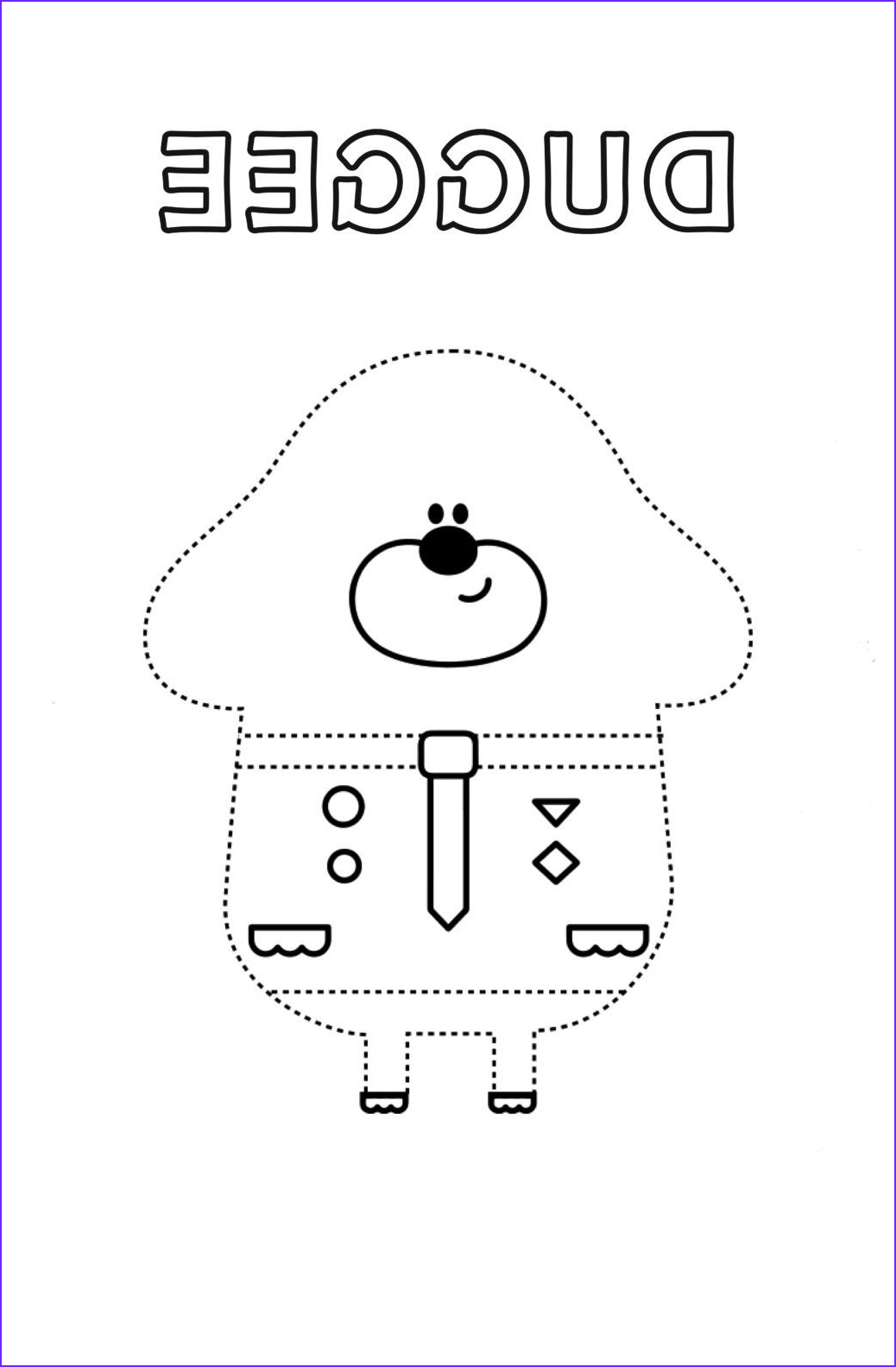 Hey Duggee Coloring Page New Stock Make – Hey Duggee