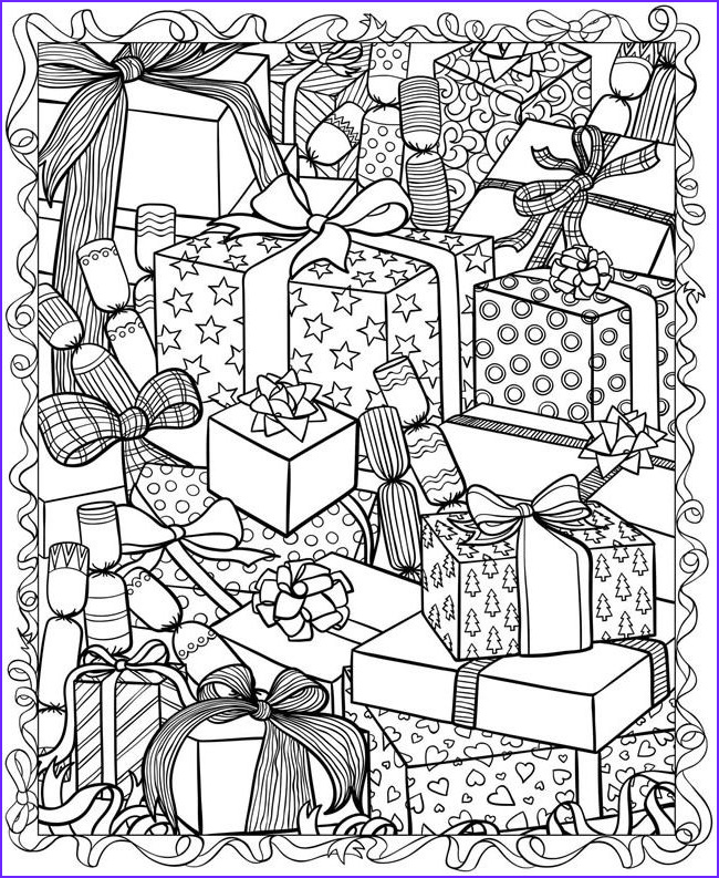 christmas adult coloring pages