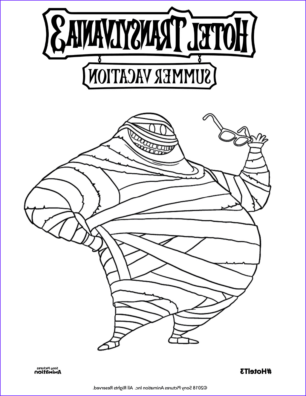 Hotel Transylvania 3 Coloring Page Awesome Gallery Free Printable Hotel Transylvania 3 Coloring Pages