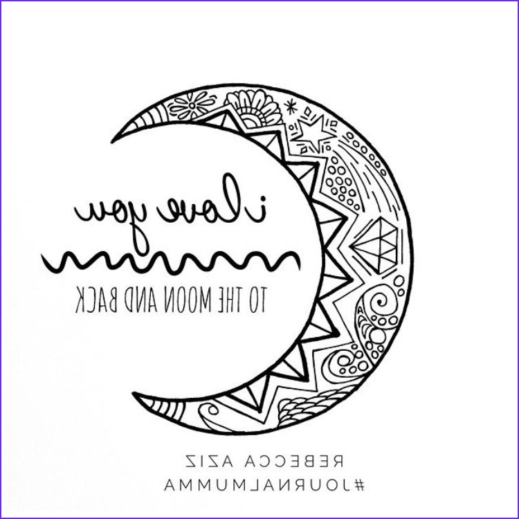 I Love You To The Moon And Back Coloring Page Cool Collection I Love You To The Moon And Back Hand Drawn Colouring