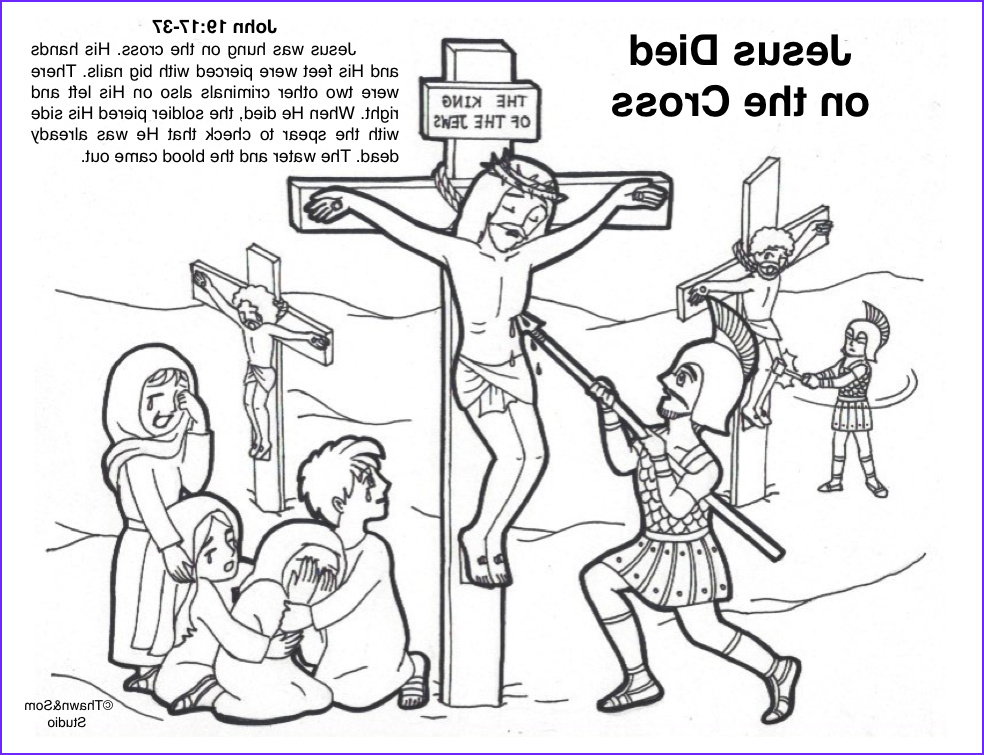 Jesus Dying On The Cross Coloring Page Awesome Gallery Jesus D On The Cross With Images