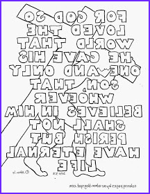 john 316 coloring page with all words m=1