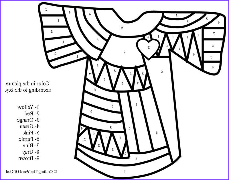 Joseph and the Coat Of Many Colors Coloring Page Best Of Photos Joseph's Coat Many Colors Color by Number Coloring