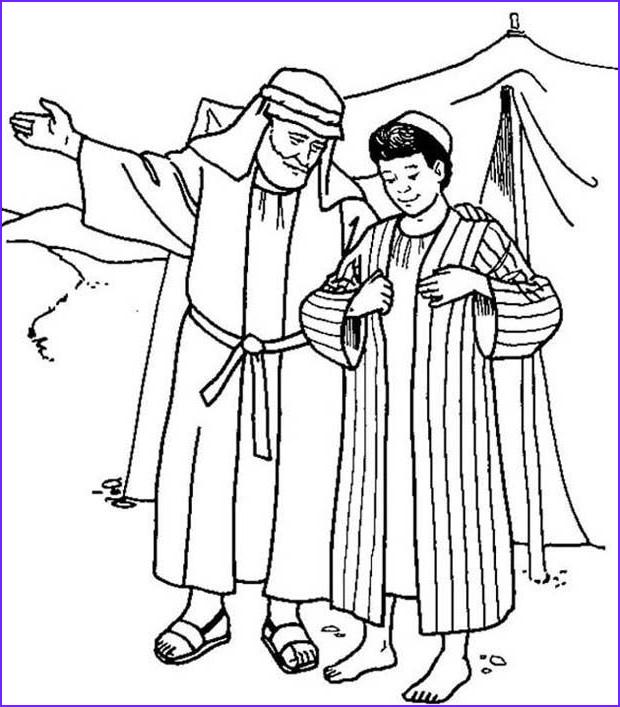 Joseph And The Coat Of Many Colors Coloring Page Inspirational Stock Joseph Receives The Coat Of Many Colours From His Father