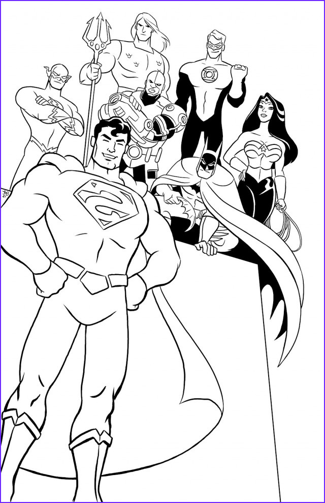 Justice League Coloring Beautiful Photos Justice League Coloring Pages to and Print for Free