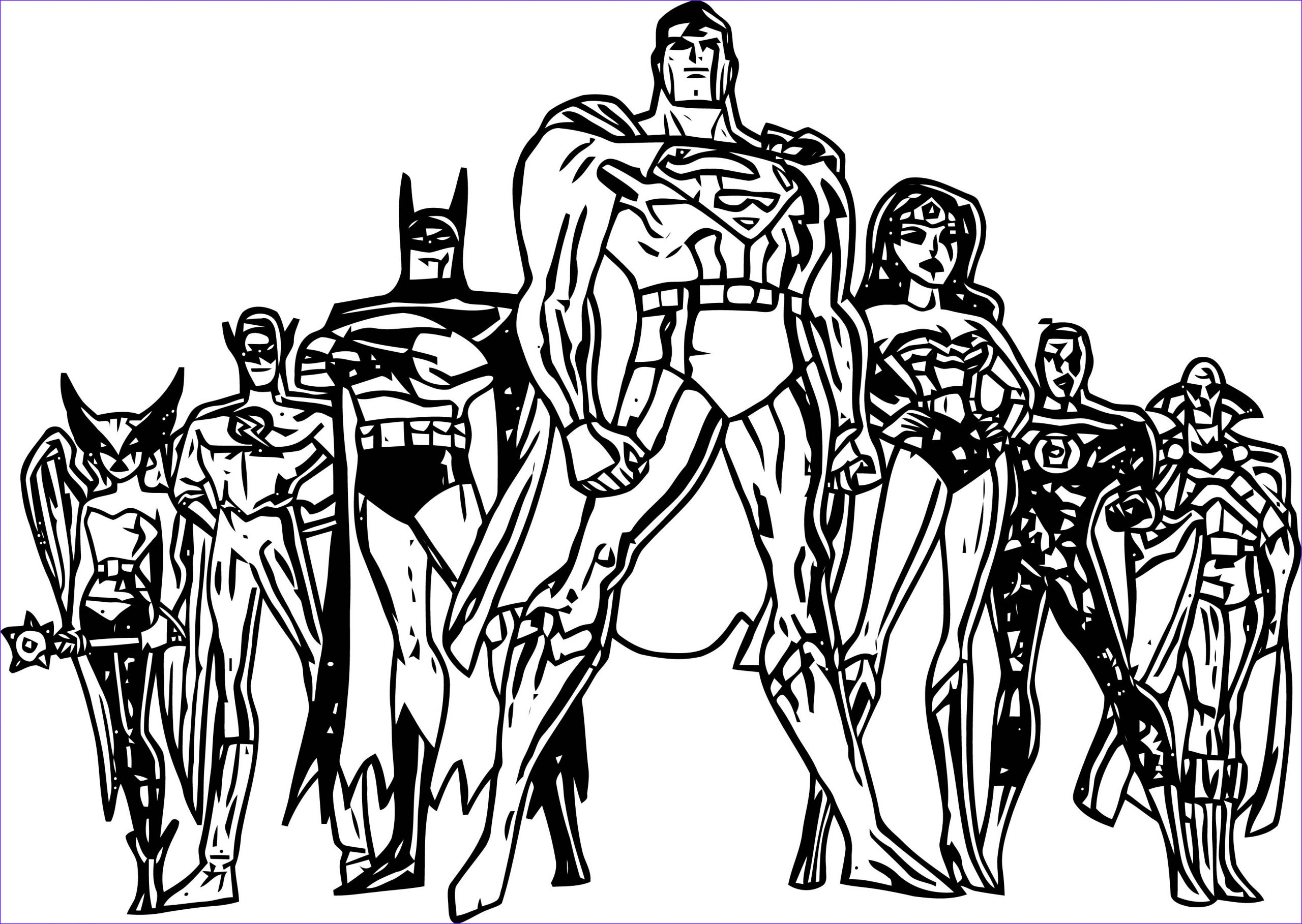 justice league coloring page wecoloringpage 24