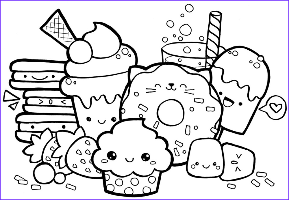 Kawaii Food Coloring Page Luxury Photos Pin On Coloring Pages