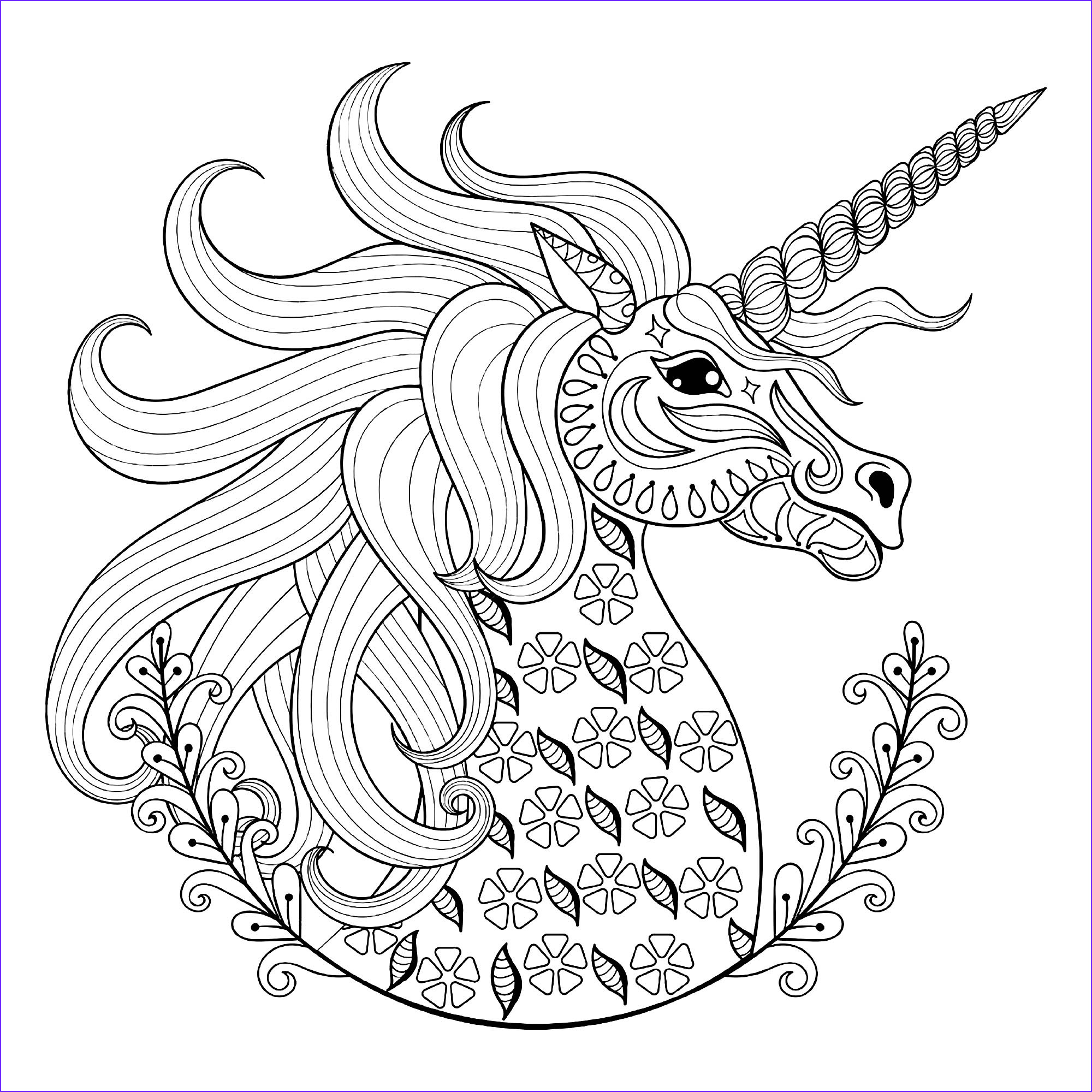 image=unicorns Coloring pages for children JustColor kids unicorns 1