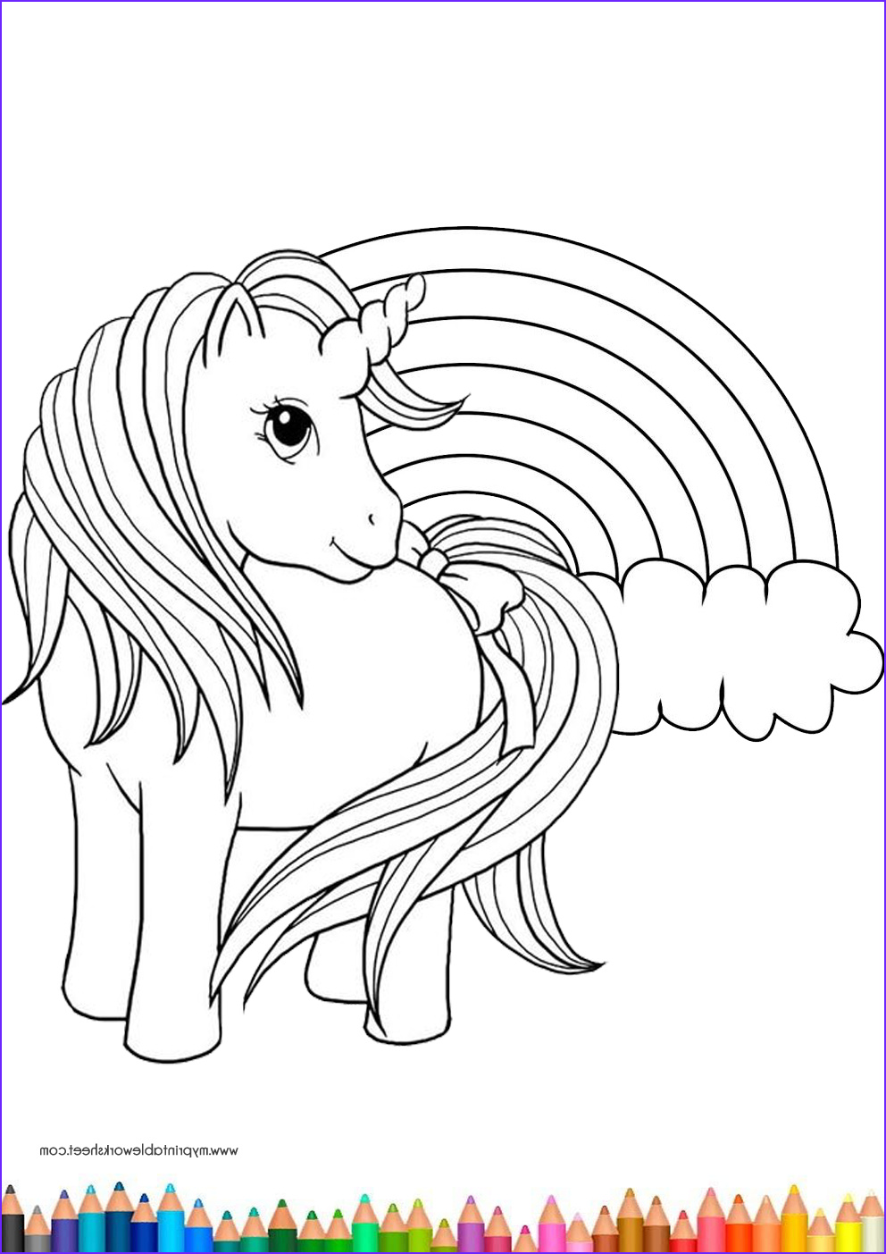 Kids Unicorn Coloring Page New Photography Easy Cute Unicorn Coloring Pages For Kids And Girls