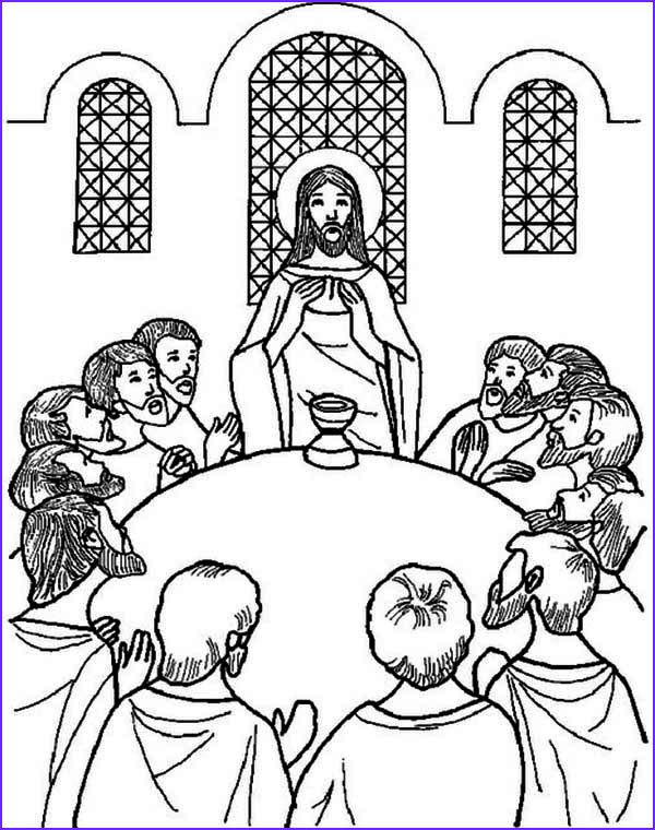 Last Supper Coloring Page Cool Collection the Last Supper Coloring Page Kids Play Color