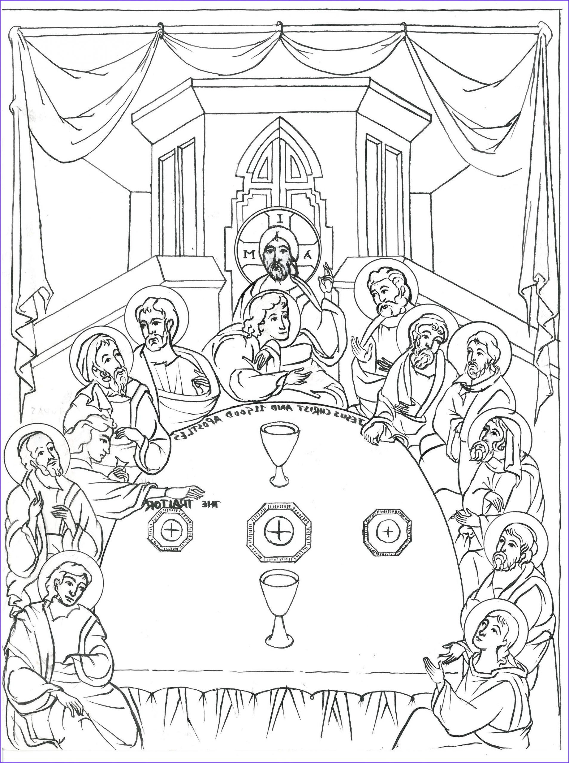 Last Supper Coloring Page Inspirational Photography Pin On Icons Black and White