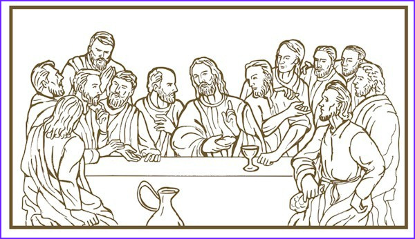 Last Supper Coloring Page Luxury Collection Last Supper Coloring Page