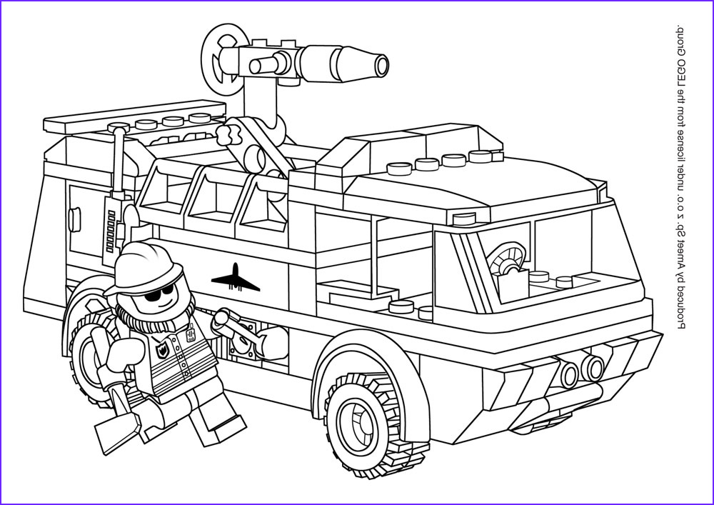 Lego City Police Coloring Page Cool Photos Lego City Police Color Printing
