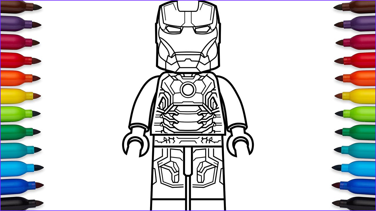 Lego Iron Man Coloring Page Awesome Photos How to Draw Lego Iron Man Mark 43 Marvel Superheroes