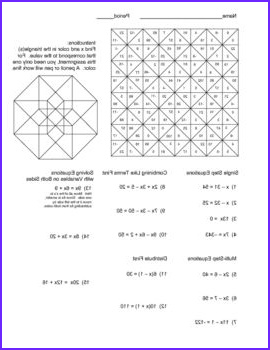Literal Equations Coloring Activity Cool Photography Literal Equations Worksheet for 8th Graders solving