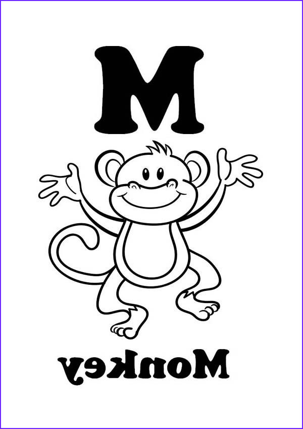 M Coloring Sheet Awesome Photos Letter M for Monkey Coloring Page 600×848