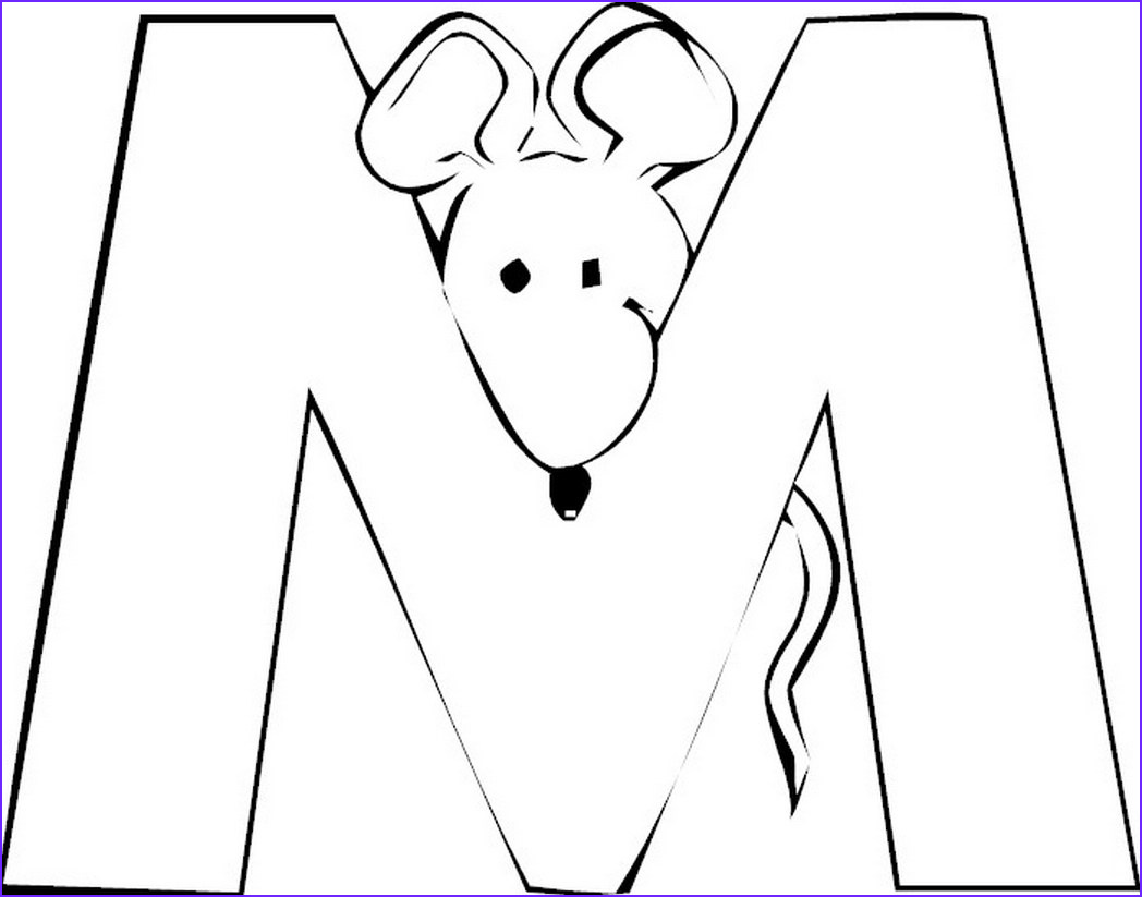 M Coloring Sheet Beautiful Photos Free Letter M Coloring Pages for Preschool Preschool Crafts