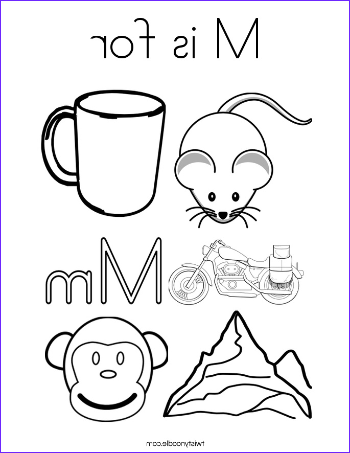M Coloring Sheet Inspirational Collection M is for Coloring Page Twisty Noodle