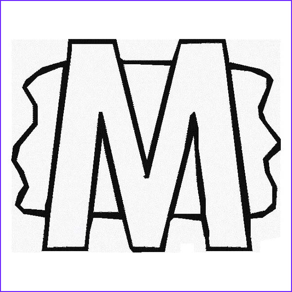 M Coloring Sheet New Stock Letter M with Splash Background Coloring Page Download