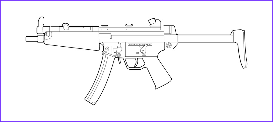 Machine Gun Coloring Page Beautiful Stock Hk Mp5n Lineart by Masterchieffox D4nb7b1 900×403