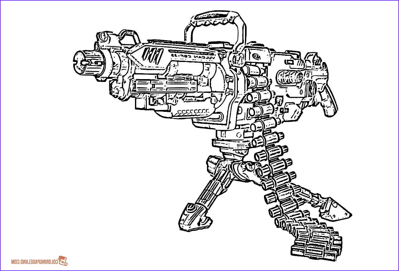 Machine Gun Coloring Page New Photos Gun Coloring Pages Download And Print For Free