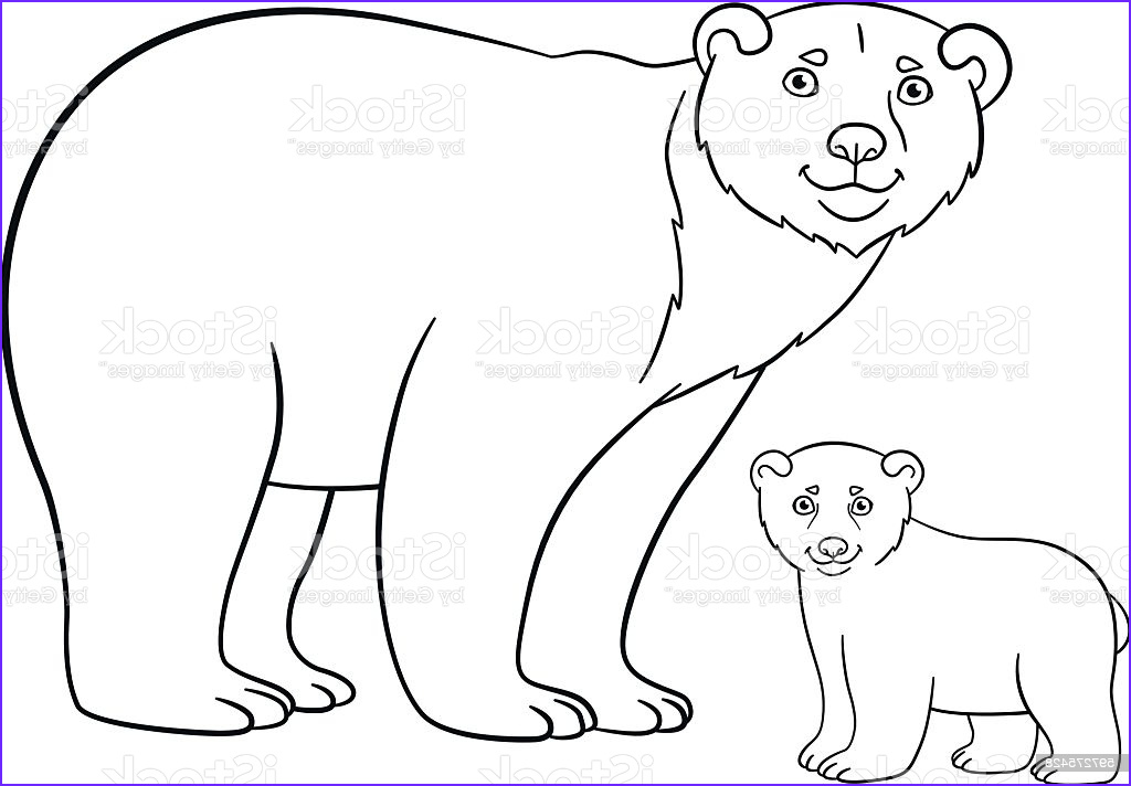 coloring pages mother bear with her cute baby gm