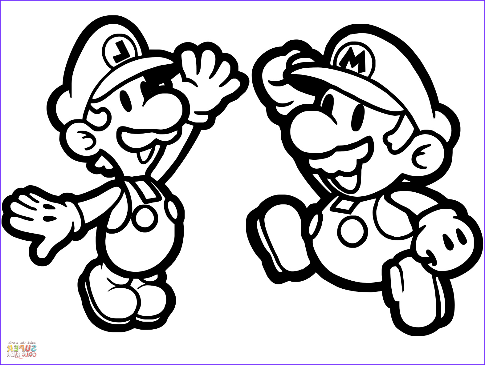 Mario and Luigi Coloring Page Beautiful Images Paper Mario and Luigi Coloring Page