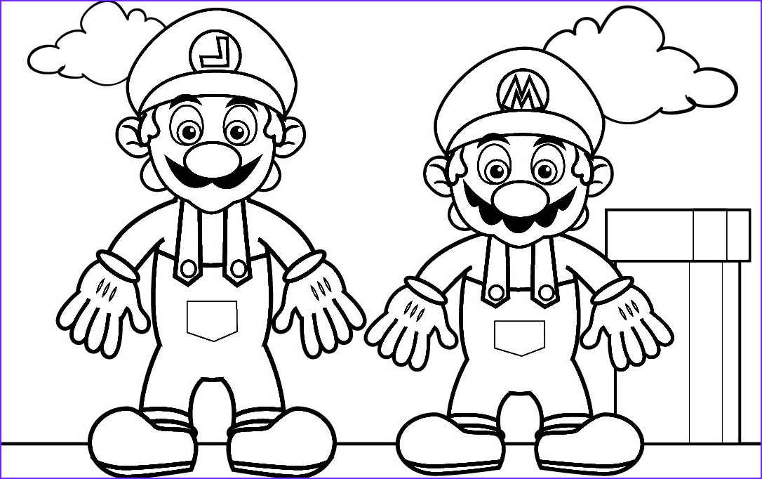 Mario and Luigi Coloring Page Luxury Photography Luigi Coloring Pages