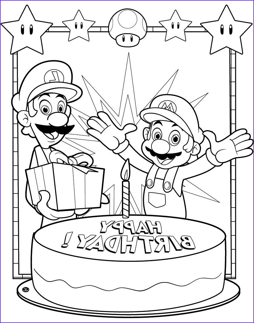 Mario Printable Coloring Page Awesome Photography Mario Coloring Pages Black and White Super Mario