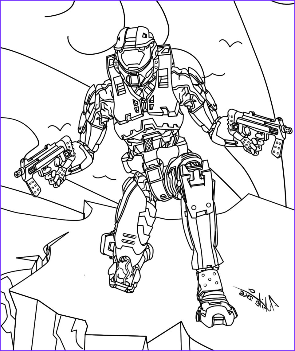 Master Chief Coloring Page Beautiful Photos Halo Master Chief Coloring Pages At Getcolorings