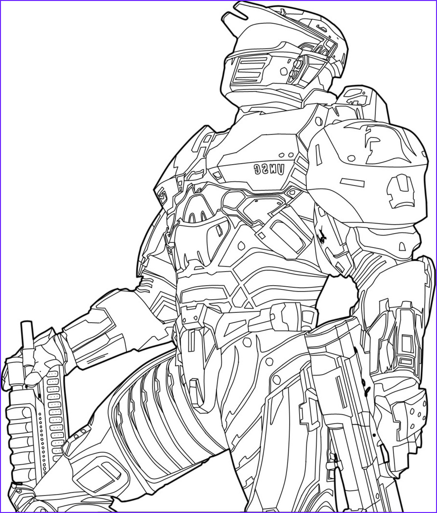 Master Chief Coloring Page Unique Images Halo Master Chief Helmet Drawing At Getdrawings