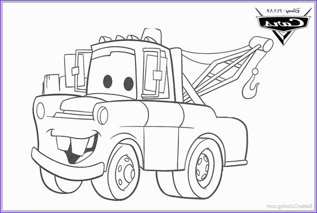 Mater Coloring Page Cool Photos tow Mater Sketch at Paintingvalley