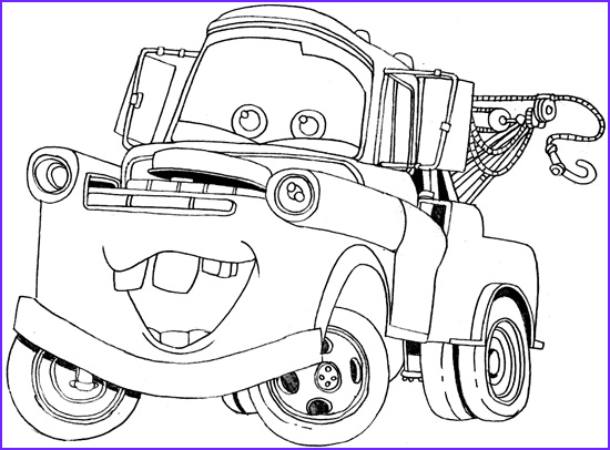 Mater Coloring Page Elegant Image tow Mater Coloring Page Mater the tow Truck Fan Art