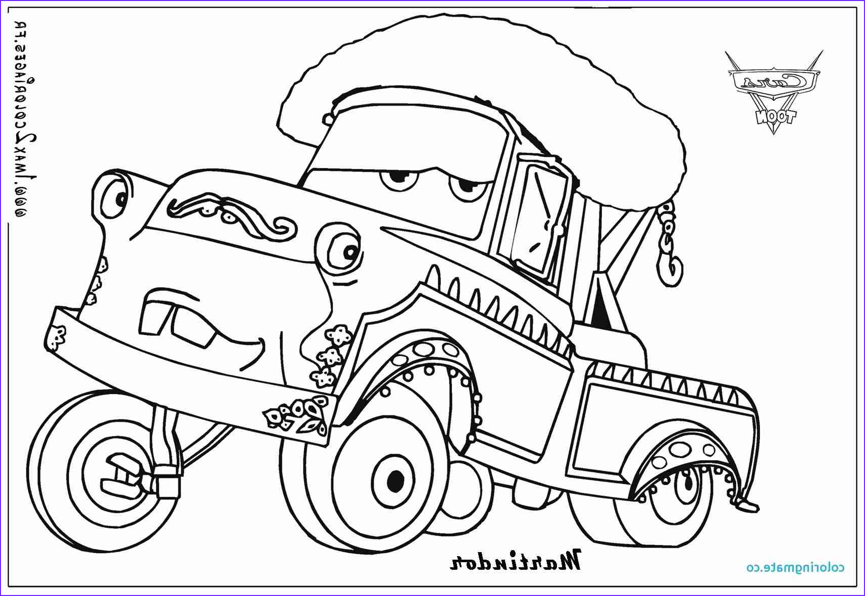 Mater Coloring Page Elegant Photos tow Truck Coloring Pages at Getcolorings