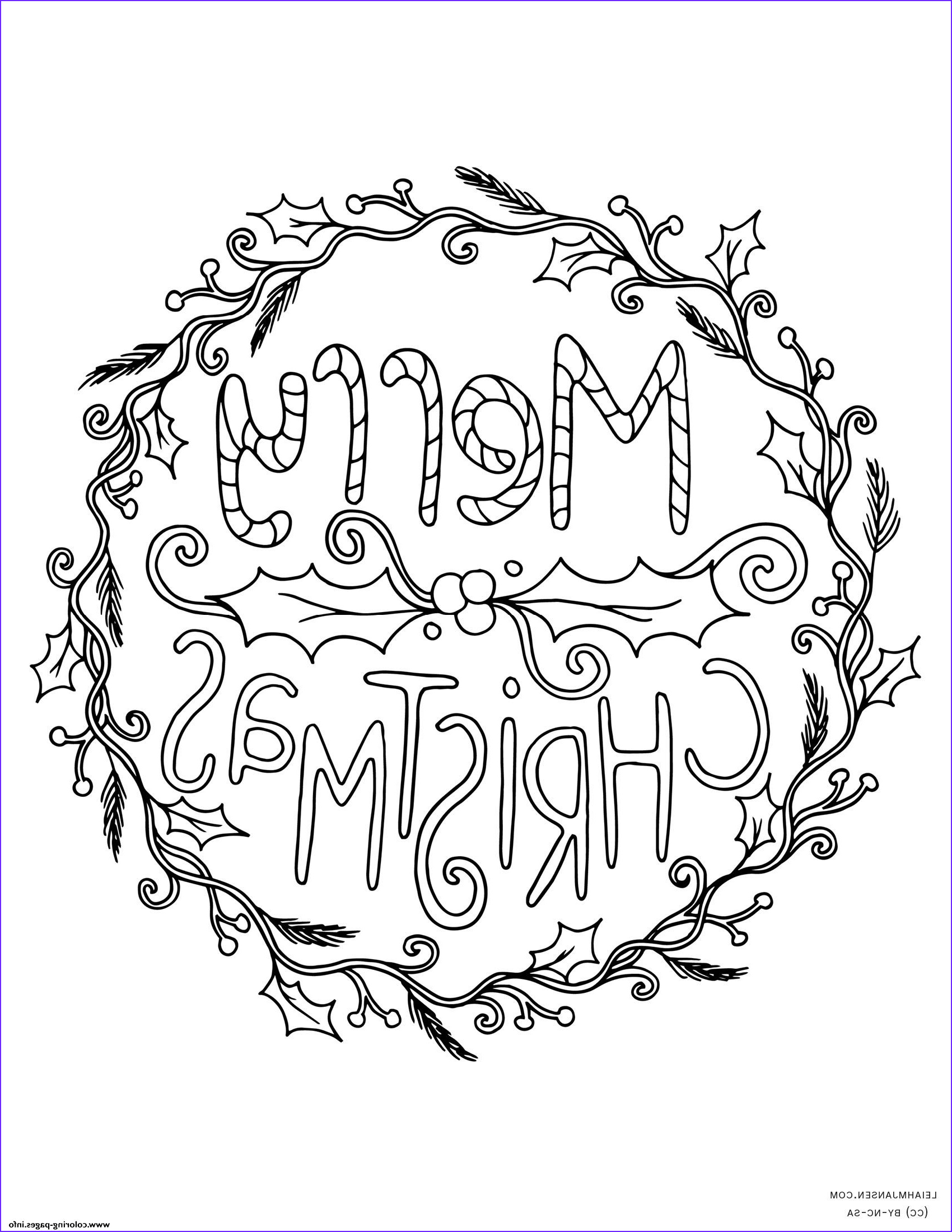 Merry Christmas Coloring Page that Say (merry Christmas) Beautiful Images Merry Christmas Wreath Adult Coloring Pages Printable