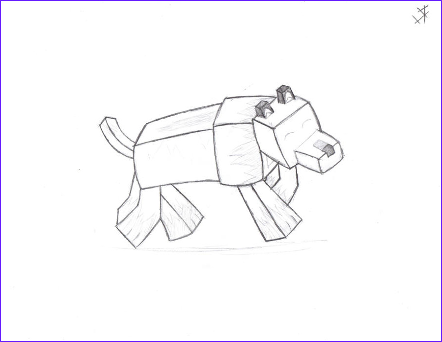 Minecraft Wolf Coloring Page Unique Photography Minecraftwolf Free Colouring Pages