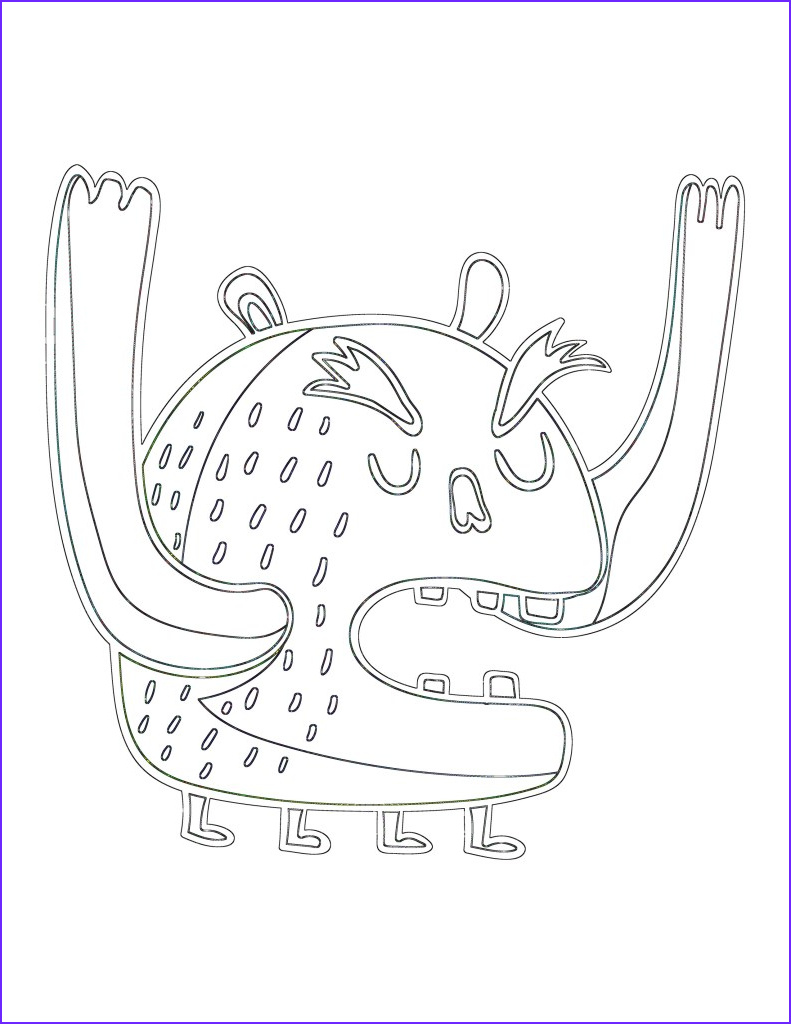 Monster Coloring Page for Kids Awesome Photos 40 Silly Monster Coloring Pages and Doodle Pages for Kids