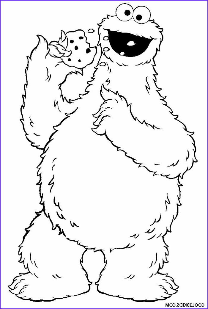 Monster Coloring Page for Kids Awesome Photos Printable Cookie Monster Coloring Pages for Kids
