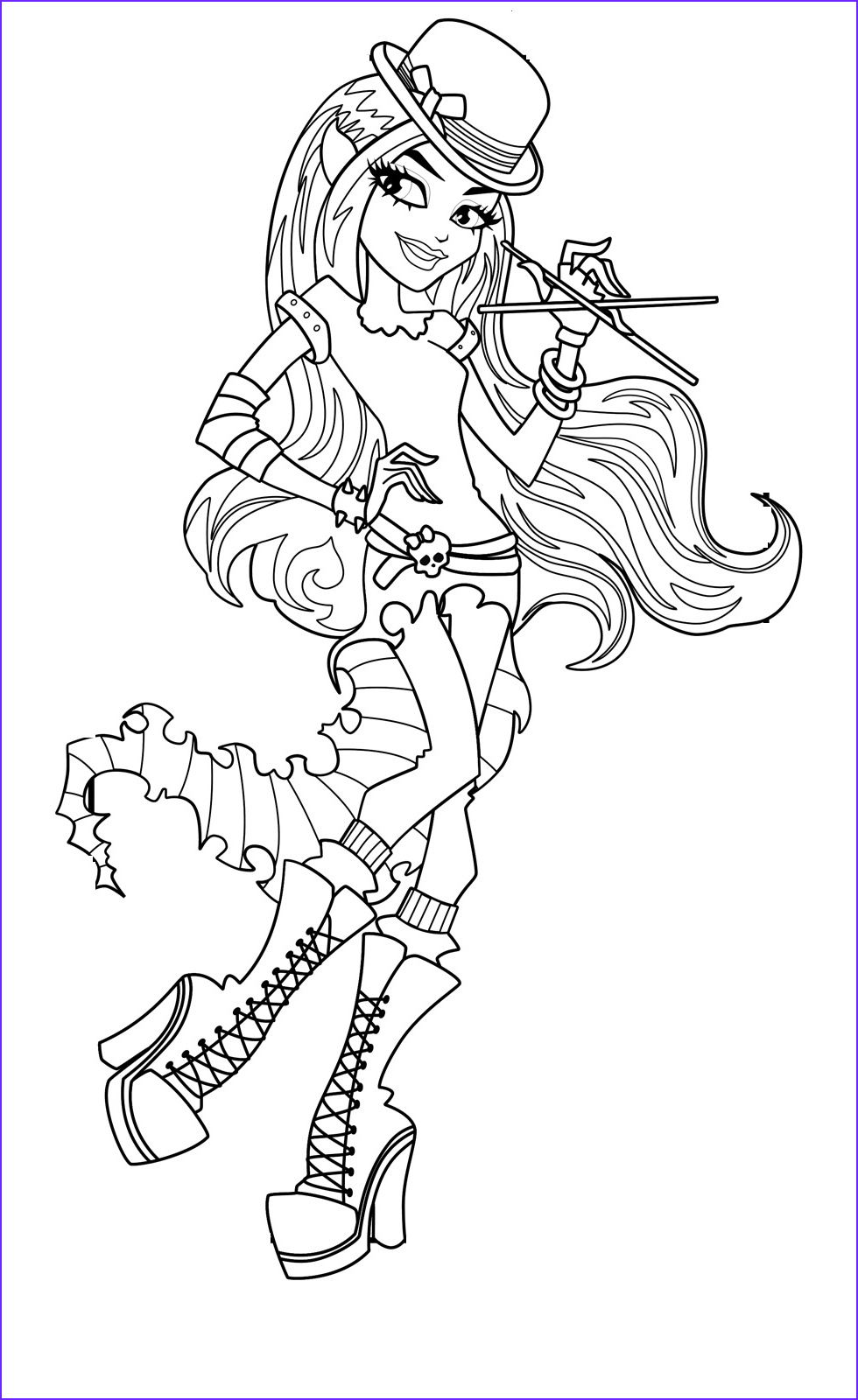 Monster Coloring Page for Kids Cool Photos 1000 Images About Monster High Disegni Da Colorare On