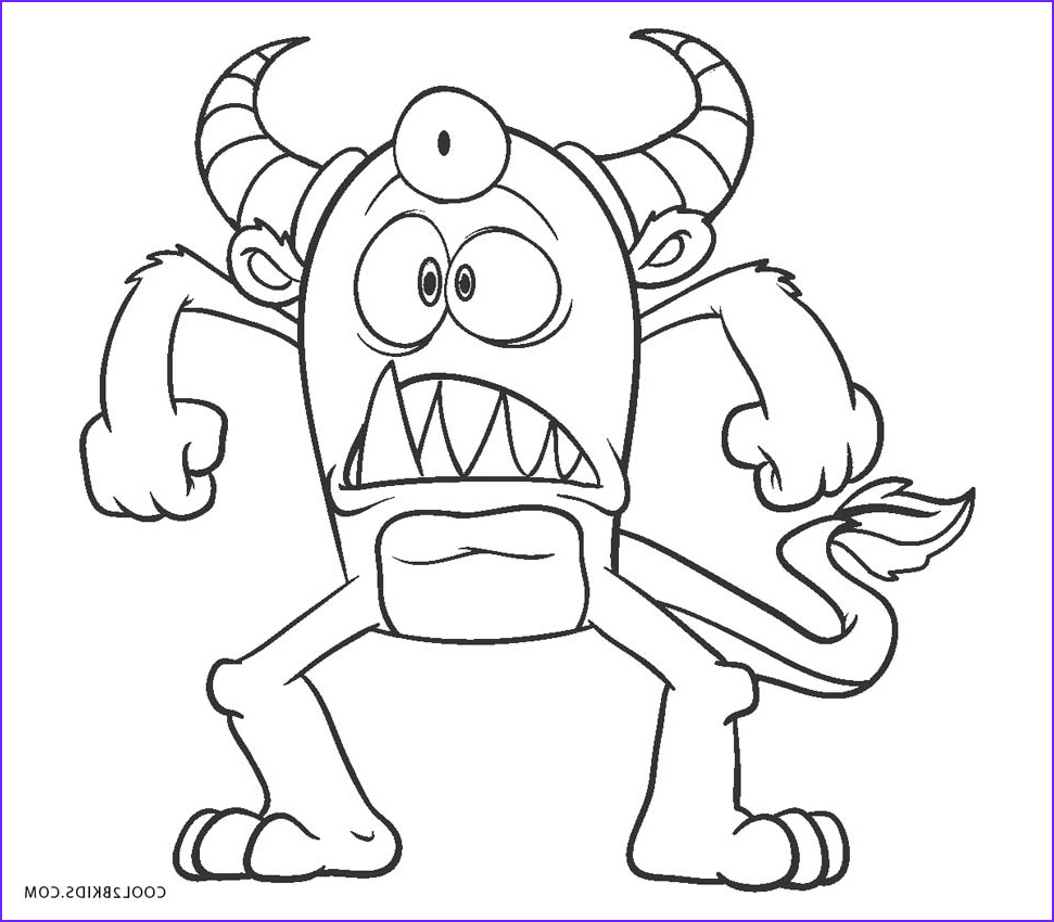 Monster Coloring Page for Kids Unique Photos Free Printable Monster Coloring Pages for Kids