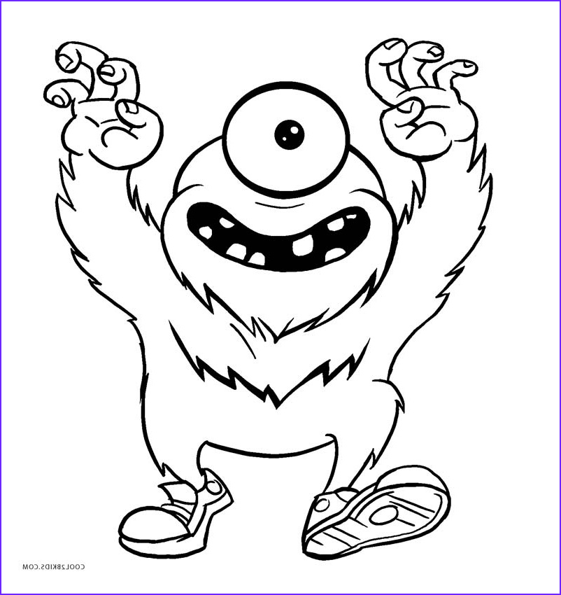 Monster Coloring Page for Kids Unique Stock Free Printable Monster Coloring Pages for Kids