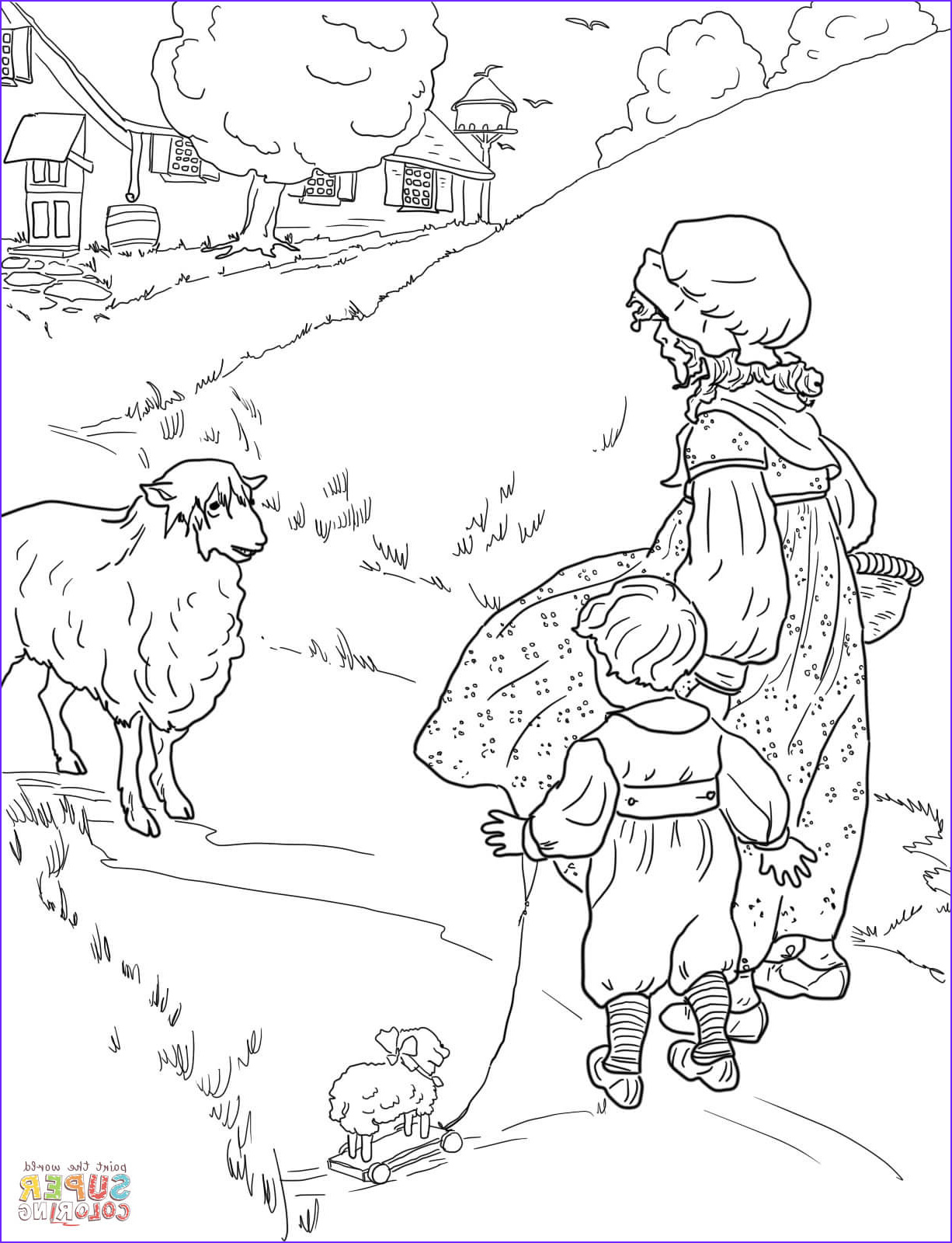 Mother Goose Coloring Page Awesome Gallery Coloring Page Simple Simon Coloring Home