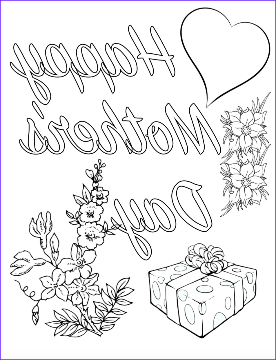 Mothers Day Coloring Book Cool Collection Free Printable Mother S Day Coloring Pages 4 Different