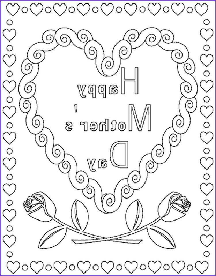 Mothers Day Coloring Book Inspirational Collection Get This Line Printable Mother S Day Coloring Pages for