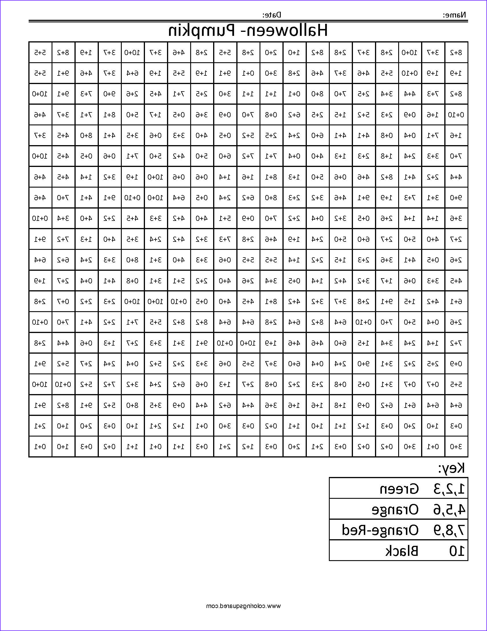 coloring squares multiplication sketch templates