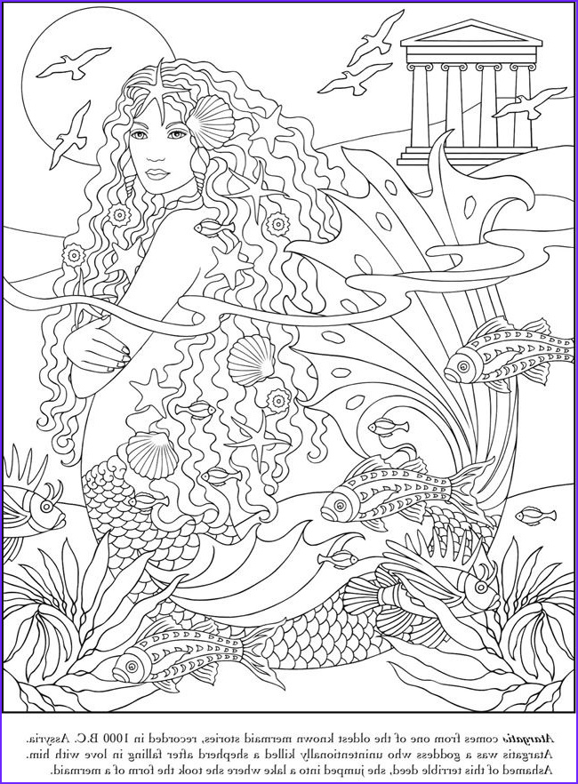 Mythical Mermaids Coloring Book Cool Photos Pin by Msluckieduckie On Coloring Pages