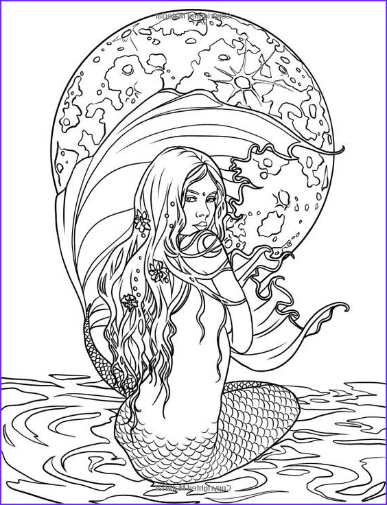 Mythical Mermaids Coloring Book Elegant Collection Adult Mermaid Coloring Pages S