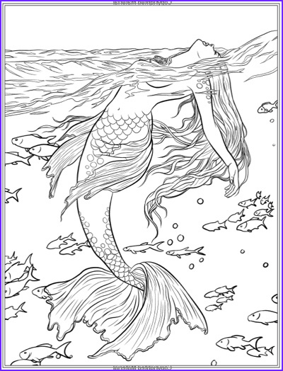 Mythical Mermaids Coloring Book Elegant Gallery Mermaid Easy Coloring Pages for Adults Get Coloring Books